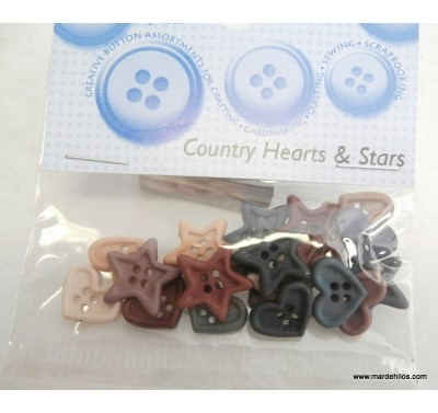 Country hearts & stars