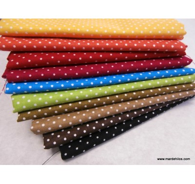 Little dot Lote 10 Fat Quarters